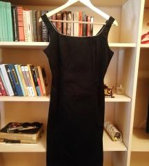 Crna vintage haljina S