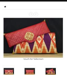 Velika clutch torbica od ratana nenosena, Bali