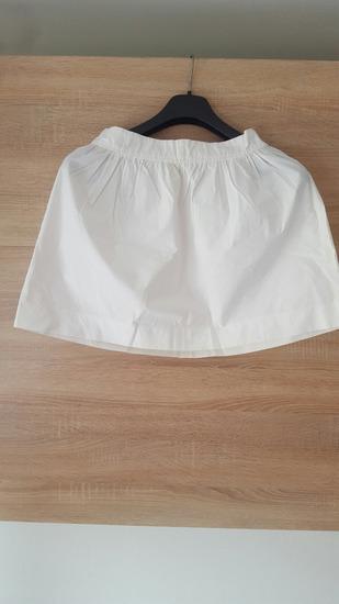 Bijela suknja, mini, s