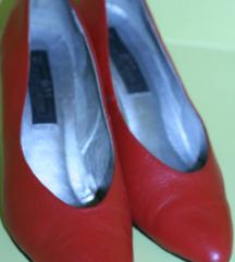 Kožne crvene vintage stiletto