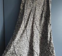 Svilena midi suknja s printom
