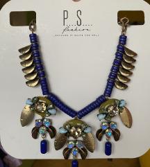 Plavo-zlatna ogrlica