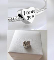 I love you Pandora privjesak