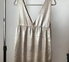 Zara zlatna zimska haljina