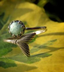 Larimar marmaid prsten