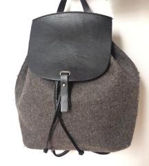 Mango crni sivi ruksak torba