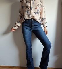 Kiabi trapez tamnoplave hlače