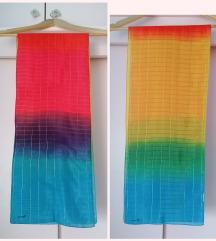 Fiorucci rainbow marama šal šarena