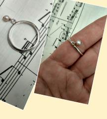 Prsten srebro 925 i biser