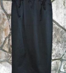Crna midi sjajna suknja