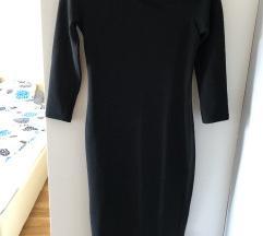 Crna midi haljina,38