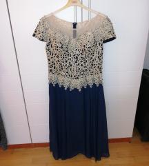 Poluduga tamno plava haljina