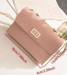 Nova torbica dirty-pink boje
