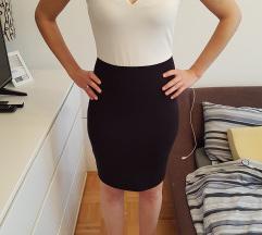 Mango crno bijela haljina