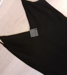Crna slip haljina