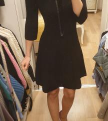 Zara crna pletena haljina nova
