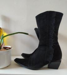 Kožne vintage čizme