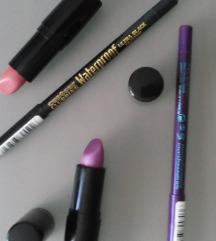 Lot: ruževi za usne + olovke za oči