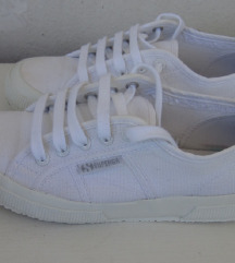 Superga potpuno bijele tenisice 38