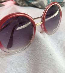 Okrugle crveno-zlatne sunčane naočale