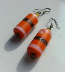 Narančaste naušnice ručni rad