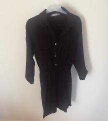 Pull&bear crna košulja haljina