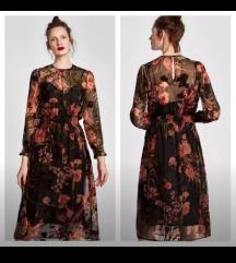 Midi floral haljina, vel m