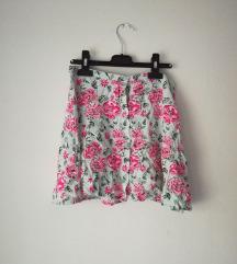 Cvjetna suknja sa gumbima