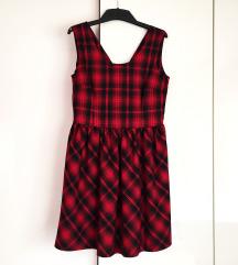RESERVED Debela karirana haljina
