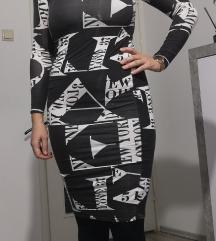 Uska crno-bijela haljina br. 38