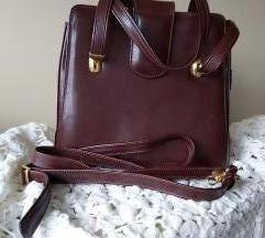 Smeđa kožna torbica NOVA