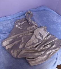 Zara limited srebrna premium večernja haljina L