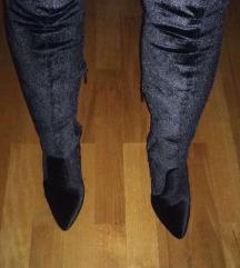 Velvet cizme iznad koljena