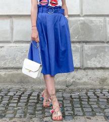 Plava midi suknja (uključena pt)