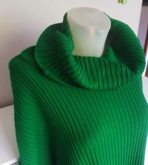 Zelena vunena haljina XL