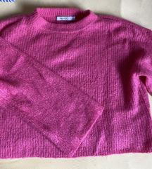 Rozi croptop pulover
