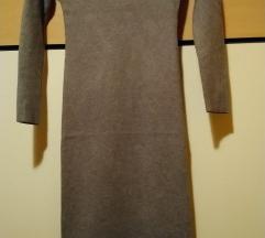 Siva pletena haljina uni