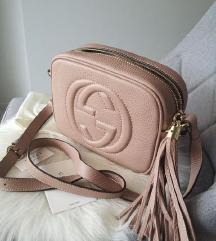 Gucci soho bag - rose beige kožna torba