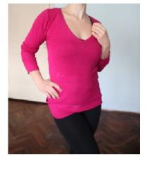 Tunika pulover boja fuksije veličina M