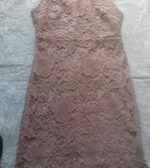 Prljavo roza čipkana haljina M 40
