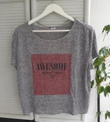 Siva majica s printom