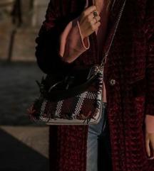 ZARA quilted velvet duffle coat M