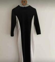 Crno-bijela ZARA haljina