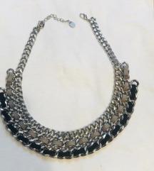 crno srebrni lančić