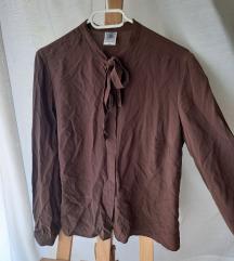 Smeđa vintage svilena košulja