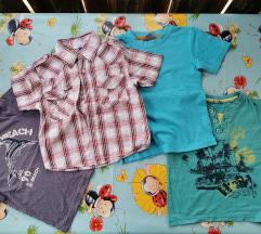 Ljetni lot košulja i majce za dečka vel 104