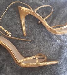 Zara zlatne sandale 38 *NOVO*