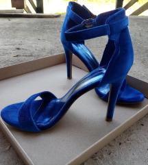 Velvet sandale kraljevsko plave boje