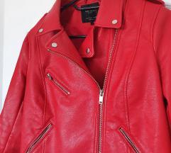 ZARA kožna jakna, veličina L