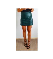 Orsay zelena kožna suknja